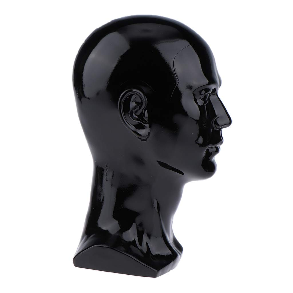 1 Stück Kopf Schaufensterpuppe Schwarz Schaumstoff 150x150x300mm Mannequin
