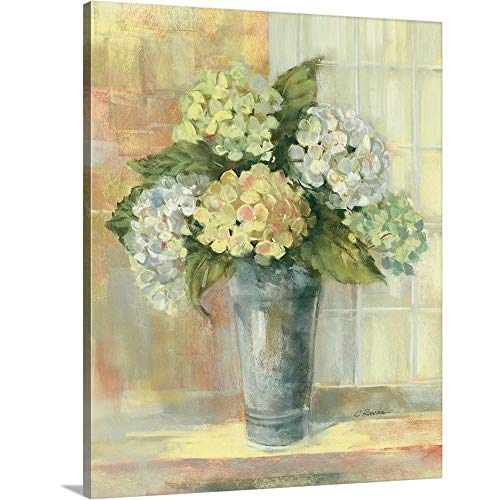 Carol Rowan Premium Thick-Wrap Canvas Wall Art Print Entitled Yellow Hydrangea 16