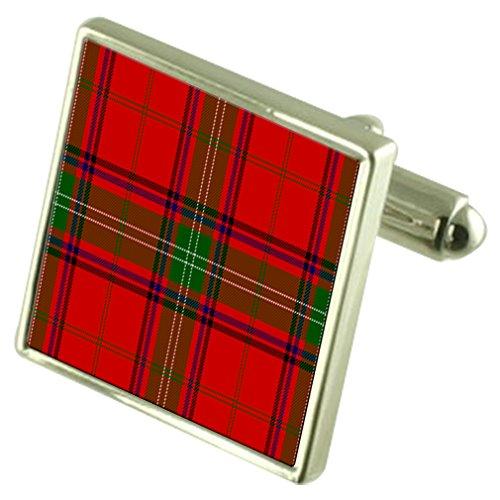 Clan écossais de manchette en argent sterling Seton