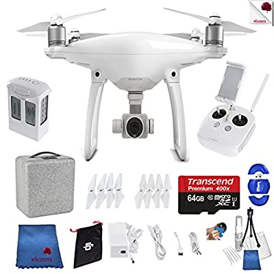 DJI Phantom 4 Starter Bundle Includes: DJI Phantom 4 Drone + Controller + Foam Case + 64 GB Memory Card + More from Woodland Hills