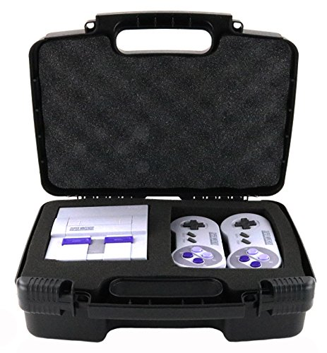 - Storage Organizer - Compatible with Super NES Classic and Accessories - Durable Carrying Case - Black