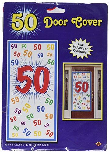 """Beistle 54702-50 """"50"""" Door Cover, 30-Inch by 5-Feet"""