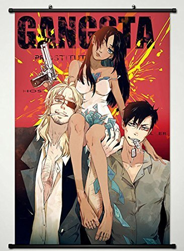 Gangsta Wall Scroll Poster Fabric Painting For Anime Key Roles 012 L