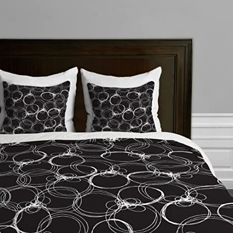 Deny Designs Rachael Taylor Circles Duvet Cover King