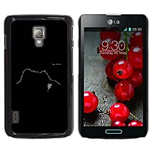 Qstar Arte & diseño plástico duro Fundas Cover Cubre Hard Case Cover para LG Optimus L7 II P710 / L7X P714 ( Text Design Face Black White Meaning)