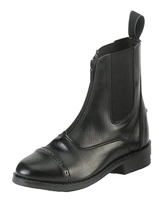 EQUISTAR Childs All-Weather Zip Paddock 12 Black best kids' paddock boots