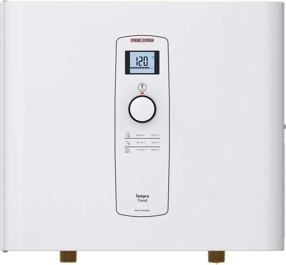 Stiebel Eltron Tankless Water Heater - Tempra 20 Trend – Electric, On Demand Hot Water, Eco, White
