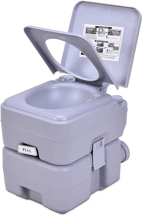 Goplus Wc Chimico Camper Toilette Portatile Wc Da Campeggio
