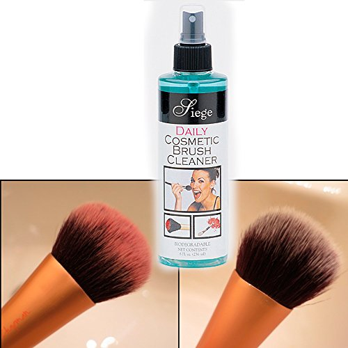 Siege Daily Make Up Cosmetic Brush Cleaner Biodegradable Dry Cleanser Spray 8 (Backstage Makeup Brush)