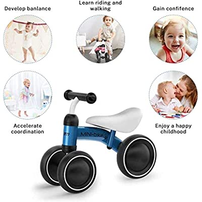 CHENNAO Baby Balance Bikes, Baby Bicycle for 1 Year Old, Toddler Bike Toddler Riding Toys with Adjustable Seat Handle. Carbon Steel Frame: Home & Kitchen