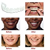 KANGYISHANGPIN 2PCS Convinced Braces Mouthguard Denture Teeth Top Cosmetic Veneer Instant Smile Comfort Fit Flex With FREE dental tools,Instant Smile veneers,Smile Serrated Denture Teeth (2PCS)
