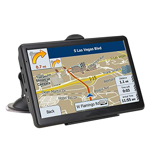 Car GPS Navigation (7 inch/8GB) Vehicle GPS Navigation System with Built-in Lifetime Maps,FM Car Navigation and Spoken Turn-by-Turn Directions