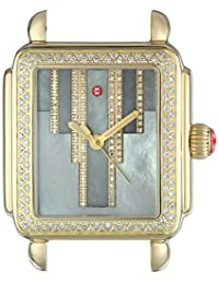 MICHELE Women's 'Deco' Swiss Quartz Stainless Steel Casual Watch, Color:Gold-Toned (Model: MW06T01B0096)