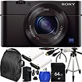 Sony DSC-RX100M III DSC-RX100M3 RX100M3 Cyber-shot Digital Still Camera + 64GB Bundle 11PC Accessory Kit. Includes 64GB Memory Card + Reader + 2 Extended Life Replacement Batteries (NP-BX1) + Charger + Micro HDMI + More