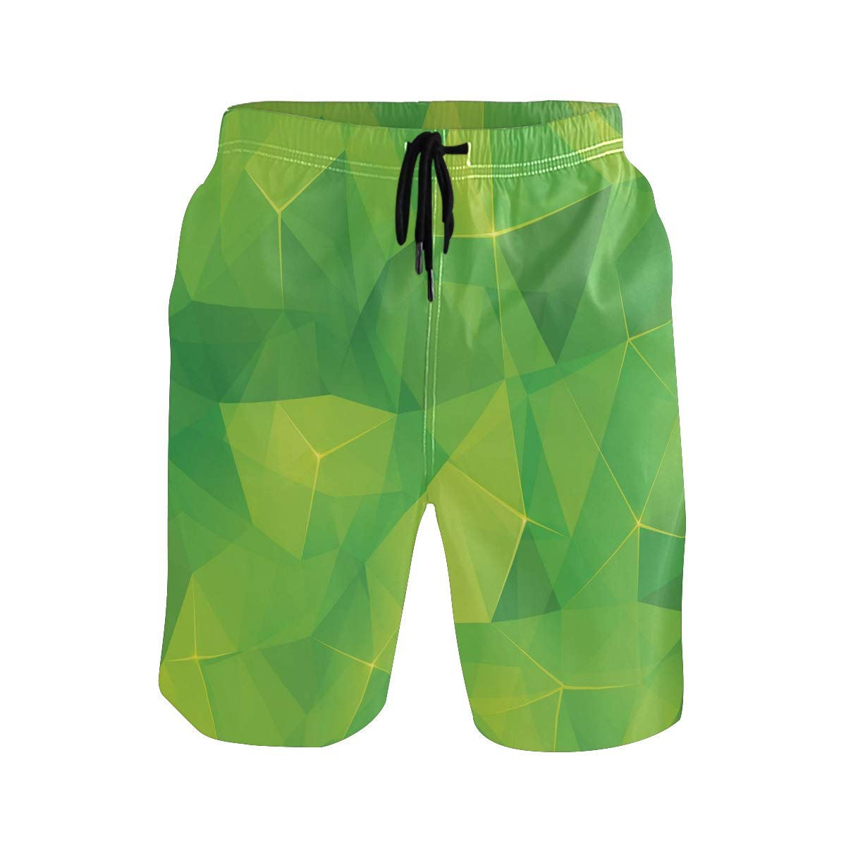 KVMV Abstract Texture with Skull and Crossbones Pattern Aged Quick Dry Beach Shorts