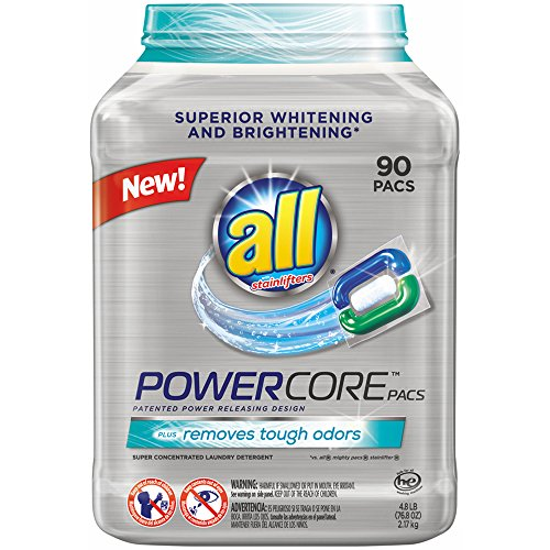 All Powercore Super Concentrated Laundry Detergent Pacs, 90 ct. (pack of 6) by All Powercore