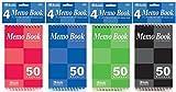 50 Count 3'' x 5'' Top Bound Spiral Memo Books 72 pcs sku# 344883MA