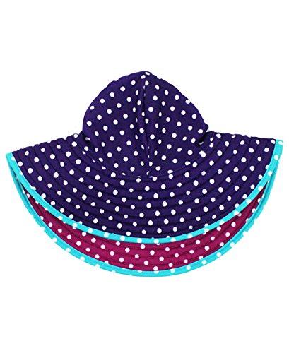 RuffleButts Baby/Toddler Girls Berry and Grape Polka Dot Reversible Swim Hat - 3T-5 ()
