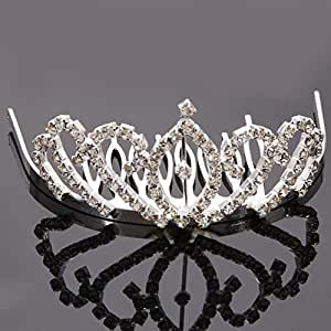 Crazy K&A Mini Charming Rhinestone Tiara Crown Headband Comb Pin #001