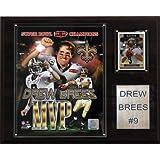 NFL Drew Brees New Orleans Saints Super Bowl MVP Plaque