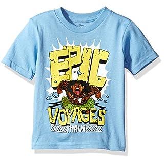 Disney Little Boys' Moana Short-Sleeved T-Shirt, Heather Grey, 5/6