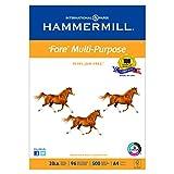 Hammermill 103036 Fore MP Multipurpose Paper, 96 Brightness, 20lb, A4, White, 500 per Ream