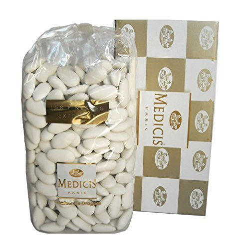 - Medicis French Almond Dragees (Jordan Almonds) White 330pc 1kg (2.2lbs)