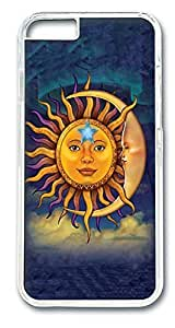 iPhone 6 Cases, Sun Moon Protective Case with Aesthetic Print Hard Back Cover for iPhone 6(4.7inch)[Scratch-Resistant] [Perfect Fit] [Anti-Slip] [Good Grip] Polycarbonate Plastics Transparent