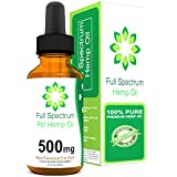 Full Spectrum Hemp All Natural Oil for Pets - 500mg 2oz. - Great for Anxiety, Tension, Arthritis Pain, Hip and Joint Pain - Easily Apply to Treats - For Cats, Dogs, other Pets - Grown in the USA