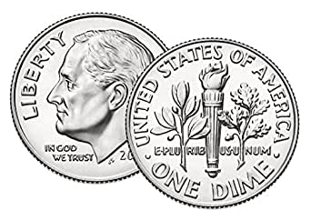 2000 P Roosevelt Uncirculated Dime ~ Raw Coin from Bank Roll