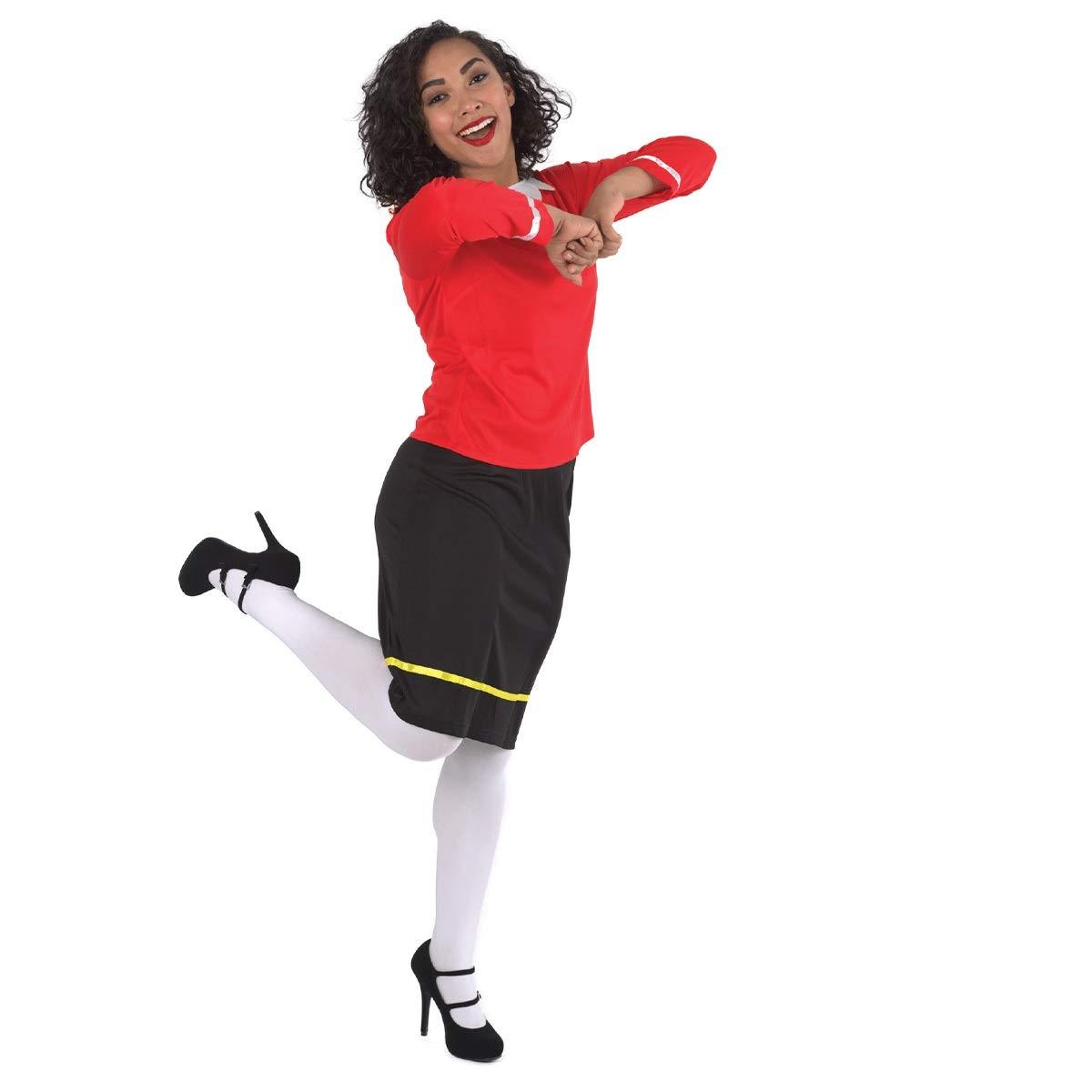 The Costume Center Disfraz de Mujer Marinera Negra y roja ...