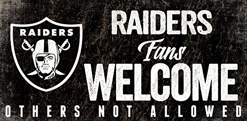 Fan Creations Oakland Raiders Fans Welcome Sign, Multi ()