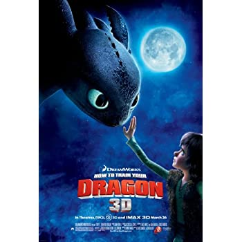 Amazon how to train your dragon 1 2 poster 20 inch x 13 inch how to train your dragon movie poster ccuart Gallery