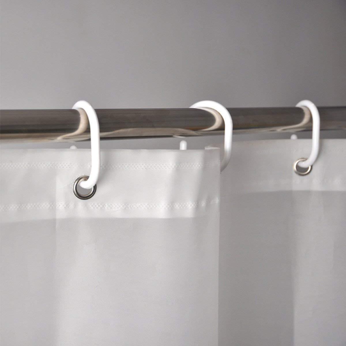 Der Creative Wild Snowflake Opaque Sunshade Padded EVA Bathroom Drilled Shower Curtain Waterproof Mildew Bathroom Accessories (Size : 150cm180cm) by Der (Image #2)
