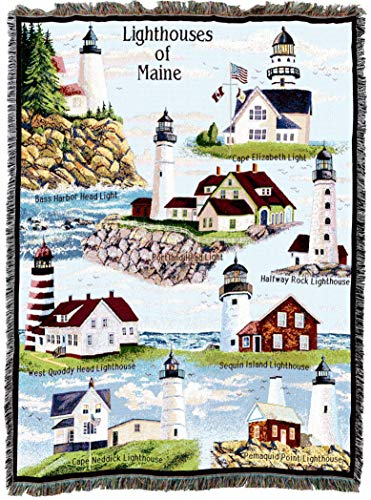Pure Country Weavers | Lighthouses of Maine Woven