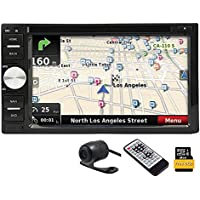 Double 2DIN 6.2 Digital Touchscreen CD DVD Player Receiver GPS Navigation Autoradio Bluetooth Wireless Remote FM AM RDS Receiver Headunit 8GB Map Card + Free Rear camera included