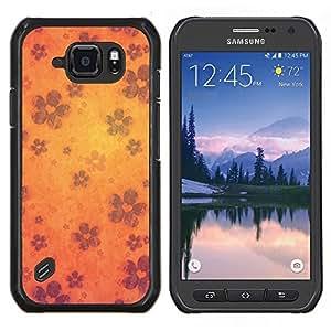 TECHCASE---Cubierta de la caja de protección para la piel dura ** Samsung Galaxy S6 Active G890A ** --Wallpaper Flores Flor de la floración de Orange
