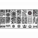 Coromose Nail Stamp Stamping Image Plate Print Nail Art Template DIY