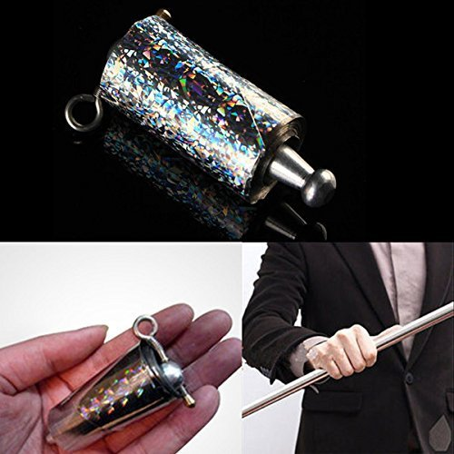 Appearing Cane Metal Silver Magic Trick Close Up And Pop Out Tool