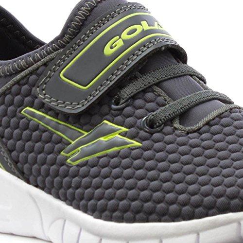 Gola Zapato de Cierre Fácil Ligero Gris de Los Deportes Para Los Muchachos Por Gris