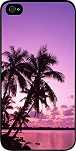 Purple Palm Tree Sunset- For SamSung Galaxy S5 Mini Phone Case Cover Universal-Hard Black Plastic