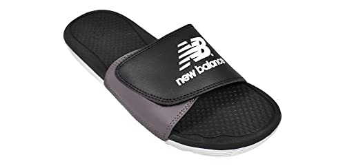 7f7b2abe6b6 New Balance Men s NB Pro Adjustable Slide Sandals Black Man Made Sandals 8