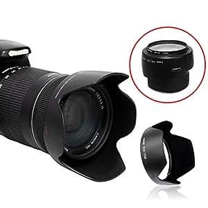 el envío 100% nuevo parasol del objetivo de la cámara EW-73B para Canon 60D EF 18-135mm ARBUYSHOP libre es BF17-85mm