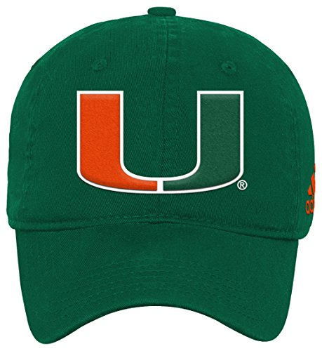 Outerstuff NCAA Miami Hurricanes Youth Boys Slouch Adjustable Hat, 1-Size, Dark Green - Green Adjustable Slouch Hat