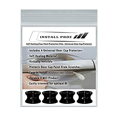 Install Proz Self-Healing Clear Paint Protection Film (4 Door Cup Protectors): Automotive