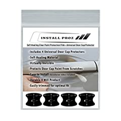 This Universal, Self-Healing, Clear Paint Protection Door Cup Kit WILL REQUIRE SOME MODIFICATION TO FIT ON SOME VEHICLES. It is a very durable, self-healing, 8 millimeter thick clear coated urethane film that helps preserve your vehicle's fin...