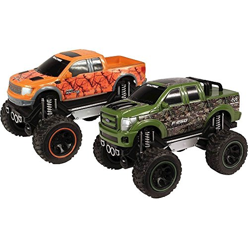 NKOK Realtree Friction Trucks Ford 1:24 F-150 SVT Raptor & Ford F-250 Super Duty Vehicle (Control Raptor Truck Remote)