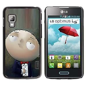 Caucho caso de Shell duro de la cubierta de accesorios de protección BY RAYDREAMMM - LG Optimus L5 II Dual E455 E460 - Character Cartoon Family Baby Smart