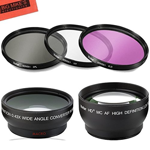 Deluxe Lens Kit Canon Rebel T3, T3i, T5, T5i, T6, T6i, T7i,