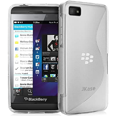 JKase Premium Quality BlackBerry Z10 BB 10 Streamline TPU Case Cover - Retail Packaging - Clear from JKase